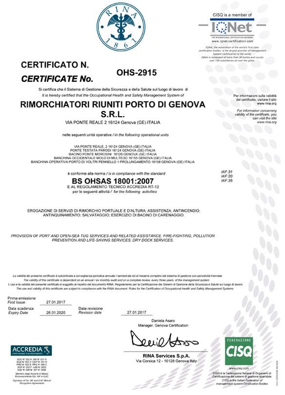 OHSA 18001-RRPG